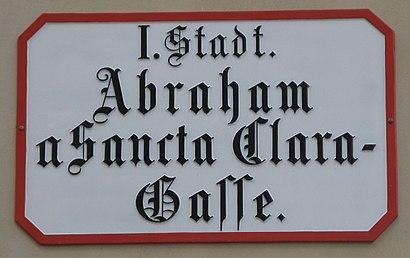 So kommt man zu der Abraham-A-Sancta-Clara-Gasse mit den Öffentlichen - Mehr zum Ort Hier