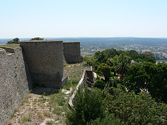 Abrantes - The main ramparts and walls of the Castle of Abrantes, captured from the Moors during the reign of Afonso I of Portugal