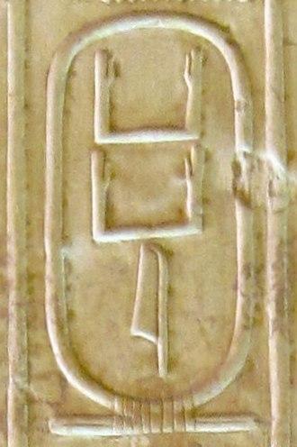 "Neferirkare Kakai - Neferirkare's nomen ""Kakai"" on the Abydos king list."