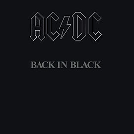 Обложка альбома AC/DC «Back in Black» (1980)