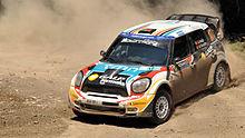 Una Mini John Cooper Works WRC impegnata nel mondiale 2011