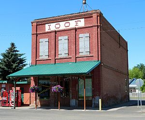 National Register of Historic Places listings in Umatilla County, Oregon - Image: Adams Odd Fellows Hall 2017 2 Adams Oregon