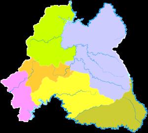Baishan - Image: Administrative Division Baishan