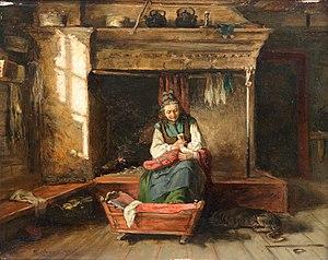 Adolf von Becker - Feeding the Baby (1874)