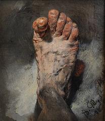 Der Fuß des Künstlers