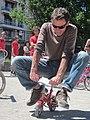 Adulte sur un minibike - adult on a minibike.JPG