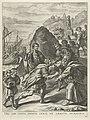 Aeneas accepteert de gastvrijheid van Evander in Italië Hic tibi certa domus, certi, ne absiste, penates (titel op object) Intocht van Ferdinand te Gent in 1635 (serietitel), RP-P-OB-7084.jpg