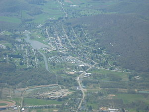 Smethport, Pennsylvania - Image: Aerial shot of Smethport, PA taken by Pilot Jim Line
