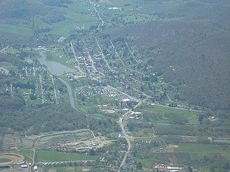 Smethport, Pennsylvania - Image: Aerial shot of Smethport, PA taken by Pilot Jim Line
