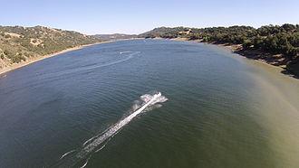 Coyote Lake (Santa Clara County, California) - Aerial view, May 2014