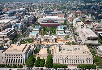 Judiciary Square - Aerial view of Judiciary Square