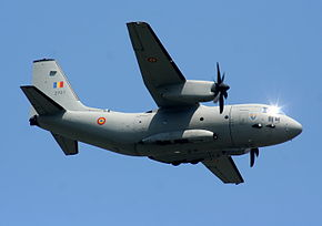 Un C-27J della Romanian Air Force.