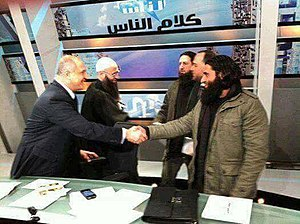 Ahmed al-Assir - Marcel Ghanem hosting Ahmed al-Assir in his political talk show Kalam El-Nas