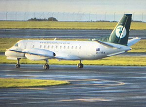Air Chathams - Air Chathams Saab 340 at Auckland Airport in 2016
