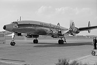 Air India L-1049G Super Constellation at Prague Airport.jpg