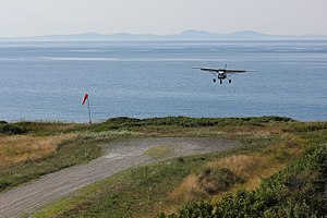 Matinicus Isle, Maine - Air taxi landing at Matinicus Island Airport