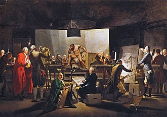 Academy of Fine Arts Vienna - Life drawing room at the Vienna academy, Martin Ferdinand Quadal, 1787