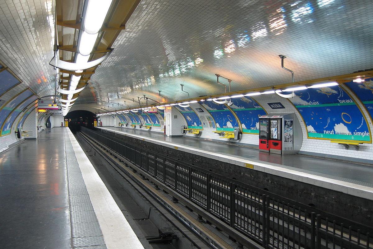 Al sia paris m tro wikipedia - Metro porte de clignancourt ...