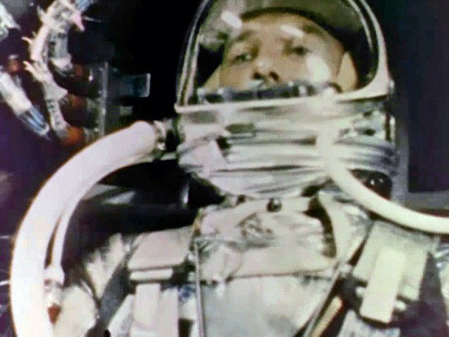 Alan Shepard during Mercury-Redstone 3