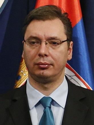 Aleksandar Vučić - Image: Aleksandar Vučić crop