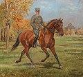 Alexander Pock Soldat zu Pferd vor dem Lusthaus im Prater.jpg