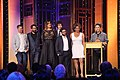 Ali Liebegott, Jay Duplass, Our Lady J, Ethan Kuperberg, Joe Lewis, Alexandra Billings and Jill Soloway at the 75th Annual Peabody Awards for Transparent.jpg