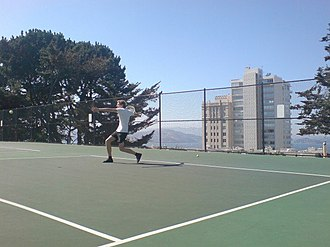 Russian Hill, San Francisco - Alice Marble tennis courts.