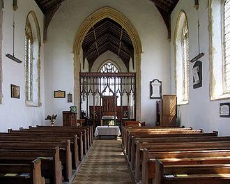 Walcott, Norfolk - The interior of All Saints, Walcott showing the eastern end.