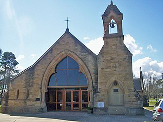 All Saints Church, Canberra - All Saints Church, with the bell tower moved to the opposite side when it was rebuilt.