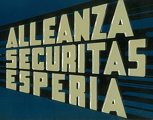 Alleanza Securitas Esperia - Image: Allsecures Insurance logotype made by Amedeo Natoli