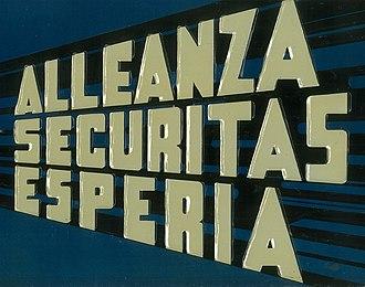 Alleanza Securitas Esperia - Image: Allsecures Insurance logotype made by Amedeo Natoli