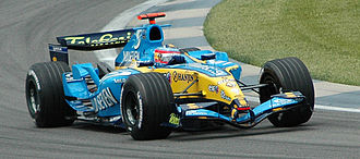 2005 United States Grand Prix - Alonso qualifying for the race