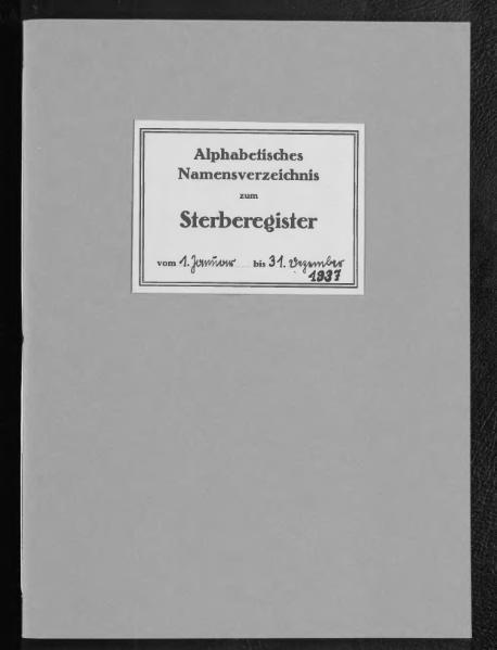 File:Alphabetisches Namensverzeichnis zum Sterberegister des Standesamtes Minden, 1937.djvu