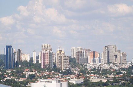 Alphaville, a gated community in the suburbs of Sao Paulo, Brazil, which is also a business center of its city proper, Barueri. Alphaville Barueri SP.jpg