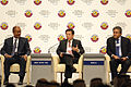 Amani Abeid Karume, Mah Bow Tan and Arif M. Naqvi at the World Economic Forum Global Redesign Summit 2010.jpg