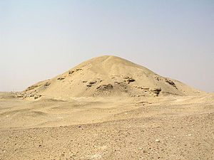 20th century BC - The pyramid ruin of Amenemhet I at Lisht. He was the founder of the Twelfth Dynasty of Egypt