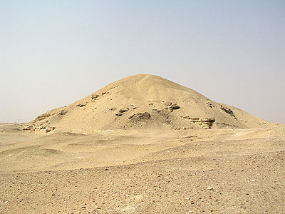 The ruined pyramid of Amenemhet I at Lisht. AmenemhetIPyramid.jpg