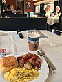 Amtrak train Capitol Limited 30 - dining car with full-service breakfast 3of3.jpg