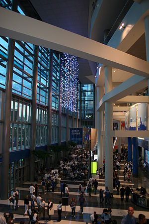 Amway Center - Amway Center main entrance at the opening game of 2010–11 regular season Orlando Magic