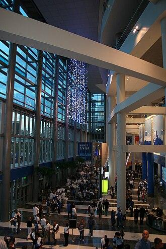 Amway Center - Amway Center main entrance at the opening game of 2010–11 regular season Orlando Magic