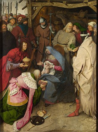The Adoration of the Kings (Bruegel) - Image: Anbetung der Könige (Bruegel, 1564) – cropped