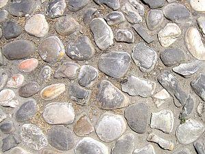 Cobblestone - Cobblestones in Imola, Italy.
