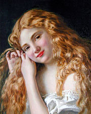 Young Girl Fixing her Hair, by Sophie Gengembre Anderson