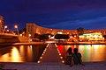Antigone in Montpellier at night in August 2009 (8569977470).jpg