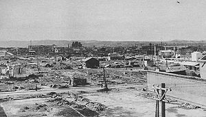 Bombing of Aomori in World War II -  Aomori after the 1945 air raid