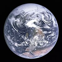 The famous photo of Earth from Apollo 17 (Blue Marble) originally had the south pole at the top; however, it was turned upside-down to fit the traditional perspective.