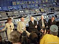 Apollo astronauts at the Apollo 11 30th Anniversary KSC Press Conference - Kipp Teague photo (48334495561).jpg