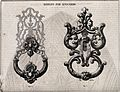 Architecture; two designs for door knockers. Wood engraving Wellcome V0024294.jpg
