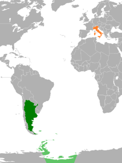 Argentinaitaly relations wikipedia map indicating locations of argentina and italy gumiabroncs Choice Image