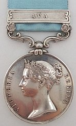 Army Of India Medal with clasp 'Ava', Obverse.jpg